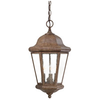 Taylor Court 3 Light 10 inch Vintage Rust Outdoor Chain Hung Lantern