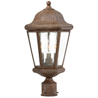Taylor Court 3 Light 19 inch Vintage Rust Outdoor Post Mount Lantern