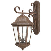 The Great Outdoors by Minka Taylor Court 3 Light Outdoor Wall in Vintage Rust 8617-61