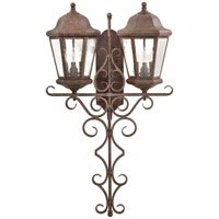 The Great Outdoors by Minka Taylor Court 6 Light Outdoor Wall in Vintage Rust 8618-61