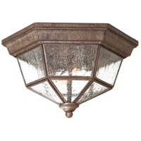 Taylor Court 2 Light 11 inch Vintage Rust Outdoor Flush Mount Lantern