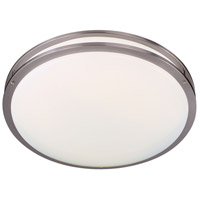 Minka-Lavery 862-84-PL Signature 1 Light 24 inch Brushed Nickel Flush Mount Ceiling Light