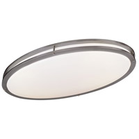 Minka-Lavery 864-84-PL Signature 2 Light 18 inch Brushed Nickel Flush Mount Ceiling Light