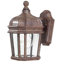 Harrison 1 Light 12 inch Vintage Rust Outdoor Wall Mount Lantern
