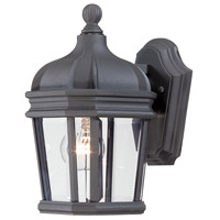 Harrison 1 Light 12 inch Black Outdoor Wall Mount Lantern