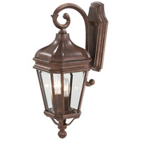 Harrison 2 Light 21 inch Vintage Rust Outdoor Wall Mount Lantern