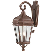 Harrison 3 Light 28 inch Vintage Rust Outdoor Wall Mount Lantern