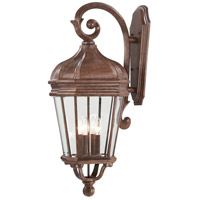 Harrison 4 Light 32 inch Vintage Rust Outdoor Wall Mount Lantern