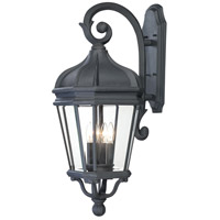 Harrison 4 Light 34 inch Black Outdoor Wall Mount Lantern