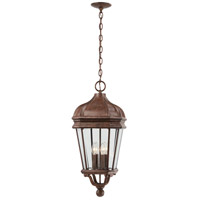 Harrison 4 Light 12 inch Vintage Rust Outdoor Chain Hung Lantern