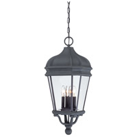 Harrison 4 Light 12 inch Black Outdoor Chain Hung Lantern