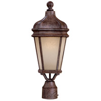 Harrison 1 Light 20 inch Vintage Rust Post Light in GU24