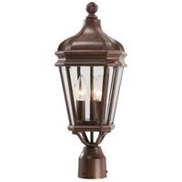 Minka-Lavery 8695-61 Harrison 3 Light 20 inch Vintage Rust Outdoor Post Mount Lantern The Great Outdoors