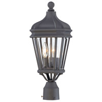 Harrison 3 Light 20 inch Black Outdoor Post Mount Lantern