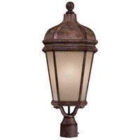 Harrison 1 Light 26 inch Vintage Rust Post Light in GU24