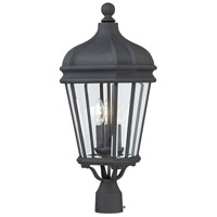 Harrison 3 Light 26 inch Black Outdoor Post Mount Lantern, The Great Outdoors