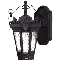 The Great Outdoors by Minka Savilla 1 Light Outdoor Wall in Textured Black w/Gold Highlights 8701-41