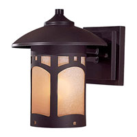 The Great Outdoors by Minka Signature 1 Light Wall Lamp in Dorian Bronze 8721-A615B