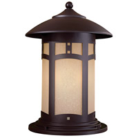 Harveston Manor 1 Light 16 inch Dorian Bronze Outdoor Post Mount Lantern
