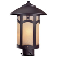 Harveston Manor 1 Light 14 inch Dorian Bronze Outdoor Post Mount Lantern