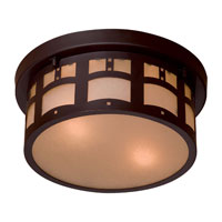 The Great Outdoors by Minka Signature 2 Light Flushmount in Dorian Bronze 8729-A615B