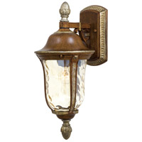 The Great Outdoors by Minka Montanero 1 Light Outdoor Wall in Mossoro Walnut w/Silver Highlights 8750-161