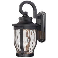 Minka-Lavery Black Glass Outdoor Wall Lights
