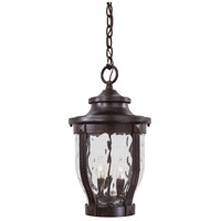 Merrimack 3 Light 10 inch Corona Bronze Outdoor Chain Hung Lantern