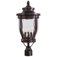Minka-Lavery 8765-166 Merrimack 3 Light 23 inch Corona Bronze Outdoor Post Mount Lantern The Great Outdoors