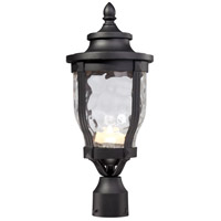 Merrimack LED 19 inch Black Outdoor Post Mount Lantern