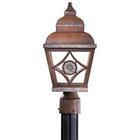 The Great Outdoors by Minka Mossoro II 1 Light Post Light in Mossoro Walnut w/Silver Highlights 8776-161-PL