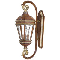 The Great Outdoors by Minka Marietta 3 Light Outdoor Wall in Mossoro Walnut w/Silver Highlights 8791-161
