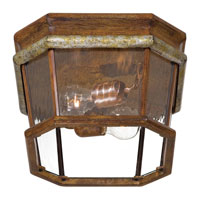 The Great Outdoors by Minka Marietta 4 Light Flushmount in Mossoro Walnut w/Silver Highlights 8799-161