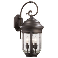 Amherst 3 Light 23 inch Roman Bronze Outdoor Wall Mount Lantern