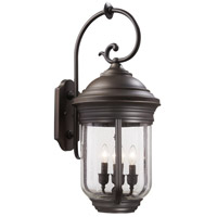 Amherst 4 Light 28 inch Roman Bronze Outdoor Wall Mount Lantern