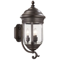 Amherst 3 Light 22 inch Roman Bronze Outdoor Wall Mount Lantern