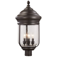 Amherst 4 Light 24 inch Roman Bronze Outdoor Post Mount Lantern