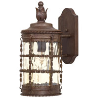 The Great Outdoors by Minka Mallorca 1 Light Wall Lamp in Vintage Rust Powder Coat 8880-A61