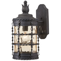 Mallorca 1 Light 16 inch Spanish Iron Outdoor Wall Mount Lantern