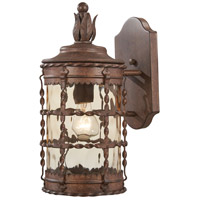 Mallorca 1 Light 16 inch Vintage Rust Outdoor Wall Mount Lantern