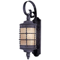 The Great Outdoors by Minka Mallorca 1 Light Wall Lamp in Spanish Iron Textured Black Powder Coat 8881-A39-PL