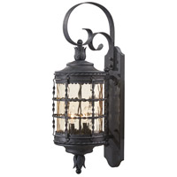 Mallorca 2 Light 28 inch Spanish Iron Outdoor Wall Mount Lantern