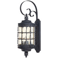 The Great Outdoors by Minka Mallorca 4 Light Wall Lamp in Spanish Iron Textured Black Powder Coat 8882-A39