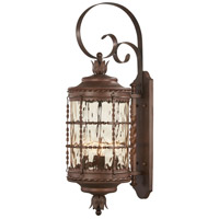 Mallorca 4 Light 34 inch Vintage Rust Outdoor Wall Mount Lantern