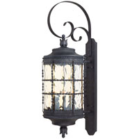 The Great Outdoors by Minka Mallorca 5 Light Wall Lamp in Spanish Iron Textured Black Powder Coat 8883-A39