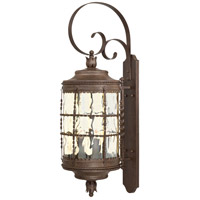 Mallorca 5 Light 41 inch Vintage Rust Outdoor Wall Mount Lantern
