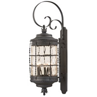 Mallorca 5 Light 41 inch Spanish Iron Outdoor Wall Mount Lantern