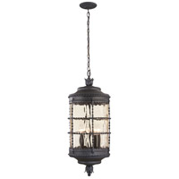 Mallorca 5 Light 13 inch Spanish Iron Outdoor Chain Hung Lantern
