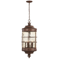 Mallorca 5 Light 13 inch Vintage Rust Outdoor Chain Hung Lantern