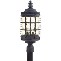 The Great Outdoors by Minka Mallorca 3 Light Post Light in Spanish Iron Textured Black Powder Coat 8885-A39